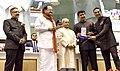The President, Shri Pranab Mukherjee presenting the Rajat Kamal Award to the Actor, Shri Akshay Kumar for Best Actor Rustom, at the 64th National Film Awards Function, in New Delhi.jpg