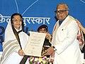 The President, Smt. Pratibha Devisingh Patil presenting the Dada Sahab Phalke Award 2010 to Shri K. Balachander, at the 58th National Film Awards function, in New Delhi on September 09, 2011.jpg