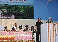 The Prime Minister, Dr. Manmohan Singh addressing at the convocation ceremony of Govind Ballabh Pant University of Agriculture and Technology, in Pantnagar, Uttarakhand on June 19, 2010.jpg