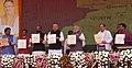The Prime Minister, Shri Narendra Modi at the launch of Shyama Prasad Mukherji National Rurban Mission, at Kurubhat, Rajnandgaon, in Chhattisgarh (6).jpg
