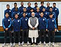 The Prime Minister, Shri Narendra Modi in a group photograph with the Indian Team that participated in FIFA U-17 World Cup, in New Delhi on November 10, 2017.jpg