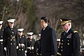 The Prime Minister of Japan lays a wreath at the Tomb of the Unknown Soldier in Arlington National Cemetery (32698262951).jpg