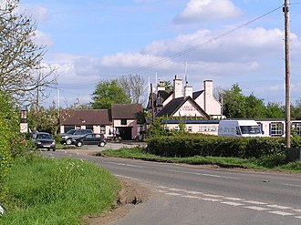 Bradley Green, Worcestershire - Image: The Red Lion at Bradley Green. geograph.org.uk 9126