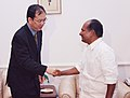 The Singapore's Permanent Secretary (Defence) Mr. Chiang Chie Foo called on the Defence Minister Shri A K Antony, in New Delhi on October 10, 2007.jpg