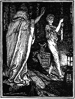 The Tale of the Youth who set out to learn what fear was from the Blue Fairy Book by Andrew Lang 1889 1