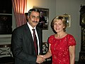 The Union Minister for Health and Family Welfare, Dr. Anbumani Ramadoss with the Minister for Elderly care and Public Health of Sweden, Ms. Maria Larsson, at Stockholm on November 19, 2008.jpg