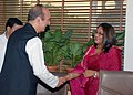 The Union Minister for Health and Family Welfare, Shri Ghulam Nabi Azad meeting Ms. Saima Wazed Hossain, Do Prime Minister of Bangladesh Ms. Sheikh Hasina in New Delhi on August 07, 2012.jpg