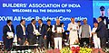 The Vice President, Shri M. Venkaiah Naidu releasing a publication of the Builders Association of India (BAI), at the inauguration of the 28th All India Builders' Convention, in Bengaluru.jpg