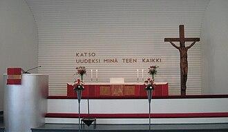 Kannonkoski - Image: The altar of Kannonkoski Church