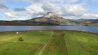 Mount Errigal - Drone shot of the beautiful Mount Errigal