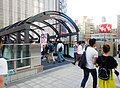 The bridge connected with Yodobashi Umeda from LUCUA Osaka.jpg