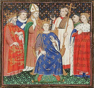 Philip II of France - The coronation of Philip II Augustus in the presence of Henry II of England