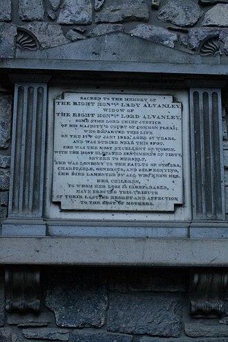 Richard Pepper Arden, 1st Baron Alvanley - The grave of Anne, Lady Alvanley, Holyrood Abbey
