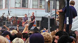 The Offspring in an outdoor concert.