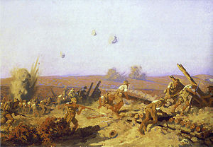 "Battle of Lone Pine - ""The Taking of Lone Pine"" by Fred Leist, 1921"