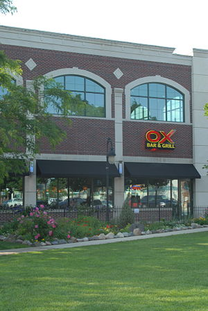 Oxford, Michigan - The Ox Bar and Grill next to Centennial Park
