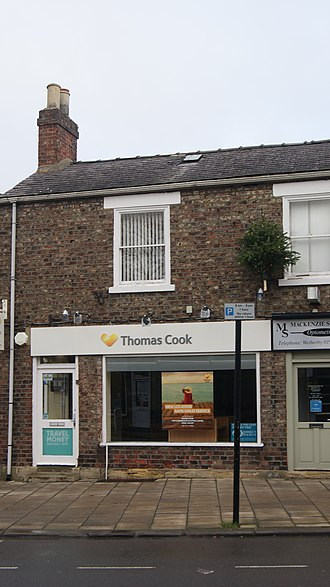 Thomas Cook travel agency in Wetherby in 2017 Thomas Cook, Wetherby (1st December 2017).jpg