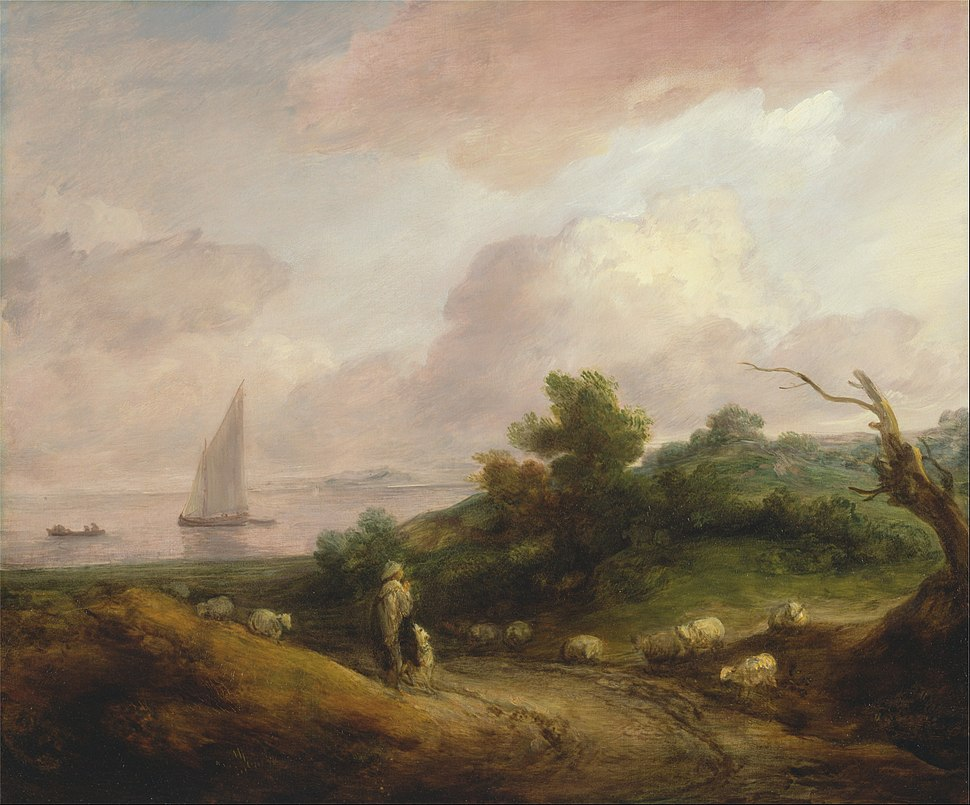 Thomas Gainsborough - Coastal Landscape with a Shepherd and His Flock - Google Art Project