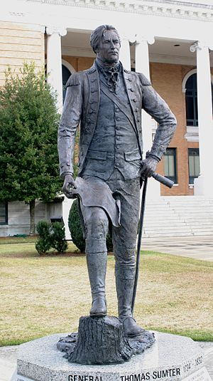 Sumter County, South Carolina - Statue of Thomas Sumter on the courthouse lawn in Sumter