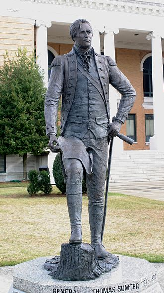 Thomas Sumter - Statue of Thomas Sumter on the courthouse lawn in Sumter, South Carolina