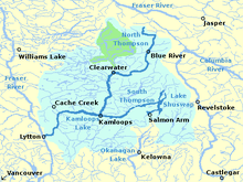 Map Of Canada Showing Kamloops.Thompson River Wikipedia