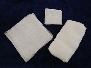 Dressing (medical) - Three types of gauze