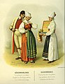 Thulstrup, Nordiska Drägter (1895) pl005 Bröllopsgåva sommarhögtidsdräkt fr Vingåkers socken, Södermanland.jpg