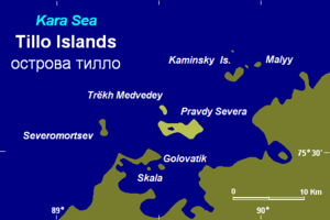 Tillo Islands - The Tillo Islands off Bukhta Voskresenskogo