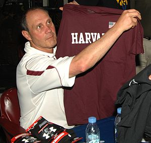 Harvard Crimson football - Current Harvard head coach Tim Murphy on board the USS Dwight D. Eisenhower in May 2010