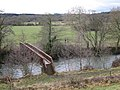 Timber footbridge over the Teign above Preston (2-2) - geograph.org.uk - 1736955.jpg