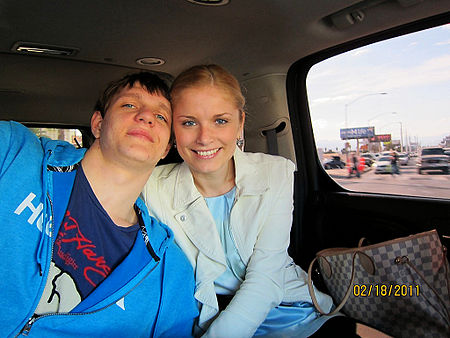 Timofey Mozgov with wife.jpg