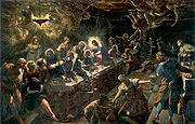 The Last Supper (1594) by Tintoretto.