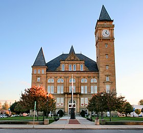 Tipton County courthouse in Tipton