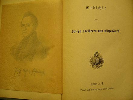 Joseph Freiherr Von Eichendorff Wikiwand
