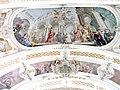 Toblach - Pfarrkirche - Deckenfresco 3 Johannes vor Herodes.jpg