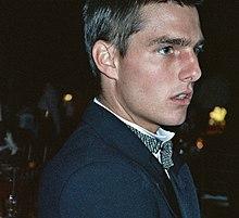 Photographie de Tom Cruise à la cérémonie des Awards en 1989.