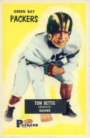 Tom Bettis - Bettis on a 1955 Bowman football card