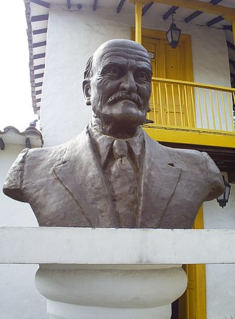 Tomás Carrasquilla - Bust of Tomás Carrasquilla in the Little Paisa Town Park in Medellín.