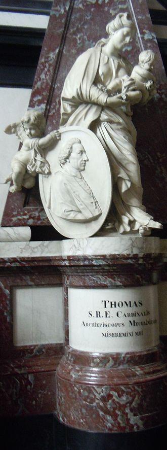 Thomas Philip Wallrad de Hénin-Liétard d'Alsace - Tomb in Mechelen Cathedral