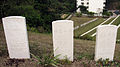 Tombstones of the British Forces' personnels who died in the First World War.jpg