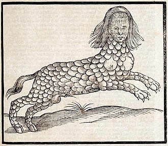 Lamia -  A 17th-century depiction of Lamia from Edward Topsell's The History of Four-Footed Beasts