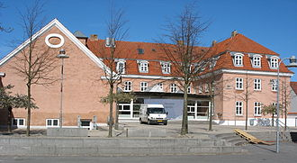 Jyderup - The old townhall building in Jyderup for the former Tornved Municipality