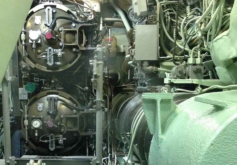 Torpedo tube breech doors of USS Nautilus