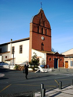 L'église de Tournefeuille.