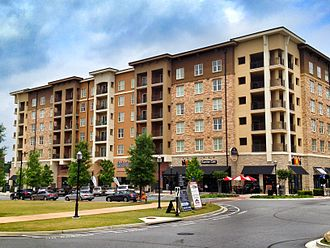 Town Brookhaven - Residential/retail building at Town Brookhaven