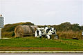 Tractor on a roundabout in France.jpg