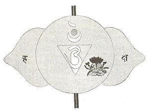 Ajna - Traditional Hindu diagram of third eye chakra
