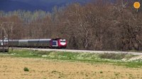 File:Trains at the fields of Lilea-Bralos route, April 2015..webm