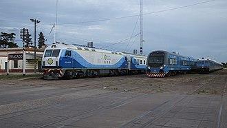 Operadora Ferroviaria Sociedad del Estado - SOFSE Materfer and CNR CKD8 rolling stock in Bragado