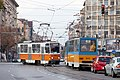 Tram in Sofia near Macedonia place 2012 PD 078.jpg